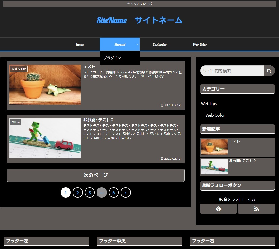 オリジナルスキン:黒×青