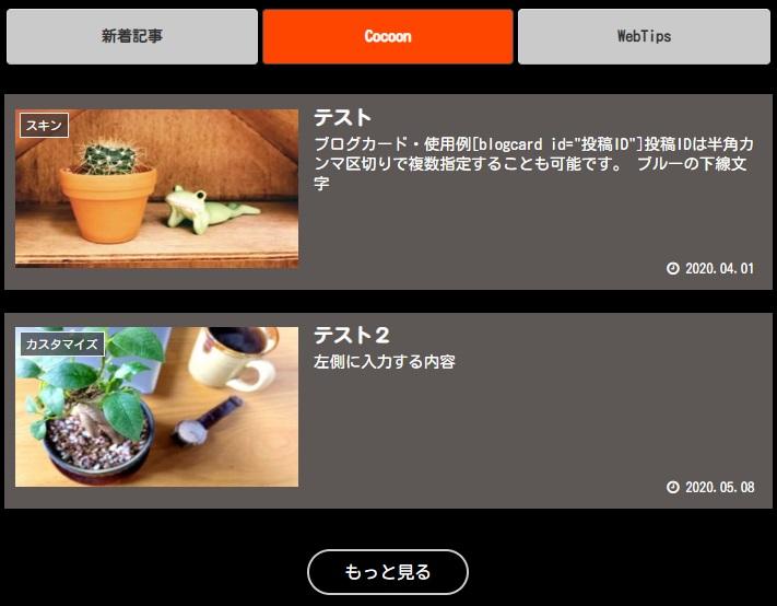 Cocoonオリジナルスキン:ビビッドカラー(黒×オレンジ)
